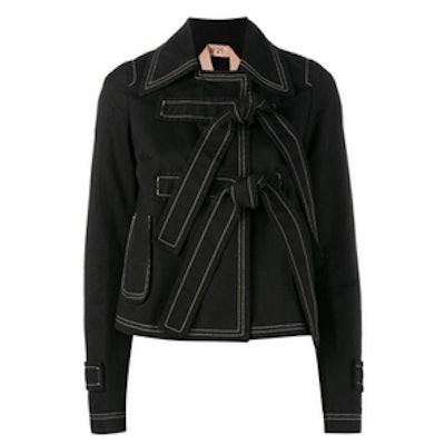 Straps Closure Cropped Jacket