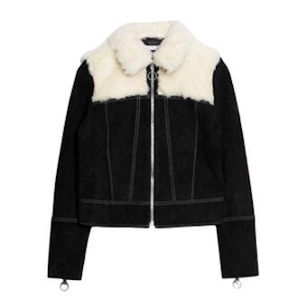 Fuzzy Suede Jacket
