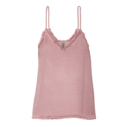 Frayed-Textured Crepe-Camisole
