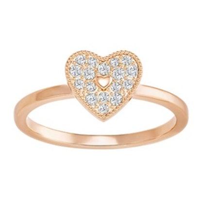 Field Folded Heart Ring