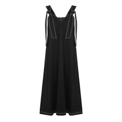 Topstitch Tie Shoulder Dress