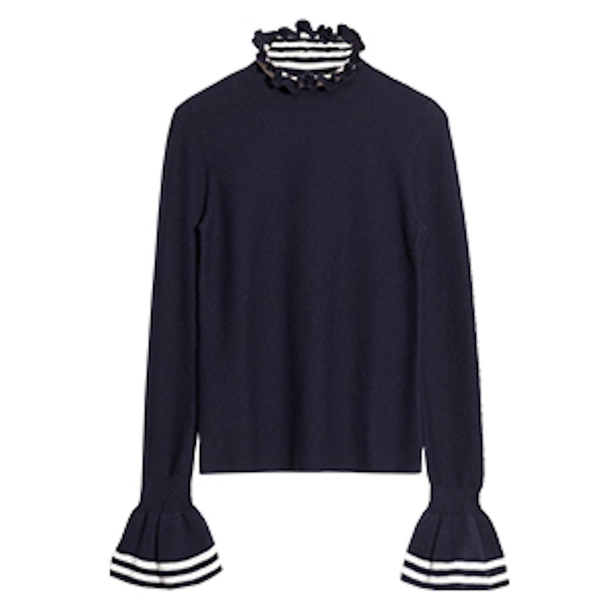 Flounce Cuff Sweater