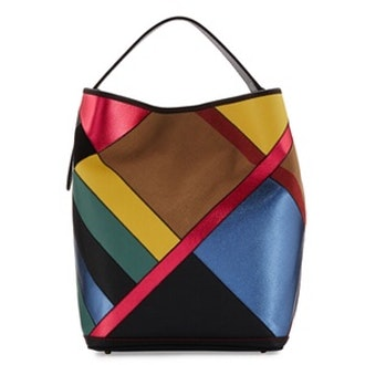 Ashby Medium Patchwork Check Hobo Bag
