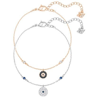 Crystal Wishes Evil Eye Bracelet Set