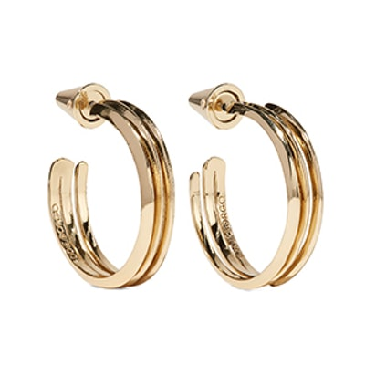 Trace Gold-Plated Hoop Earrings