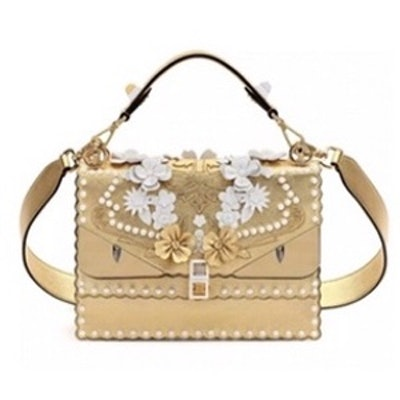Kan Floral Monster Top Handle Shoulder Bag