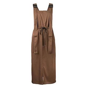 Twill Utility Pinafore Dress