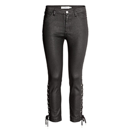 Coated Pants with Lacing