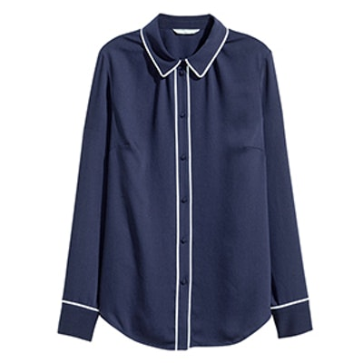 Long-Sleeved Pajama Blouse