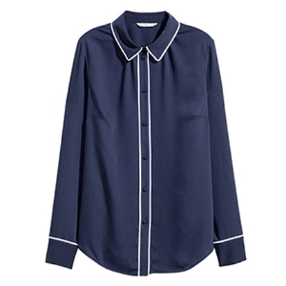 Long-Sleeved Pajama Blouse
