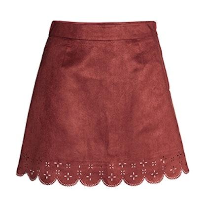Imitation Suede Skirt