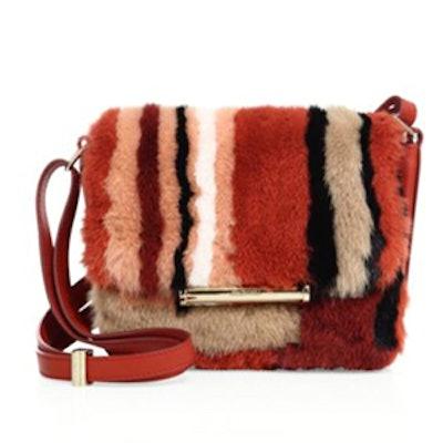 Diane Petite Multicolor Mink Fur Shoulder Bag