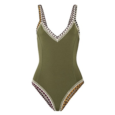 Wren Crochet-Trimmed Swimsuit