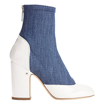 Melody Denim and Patent Leather Booties