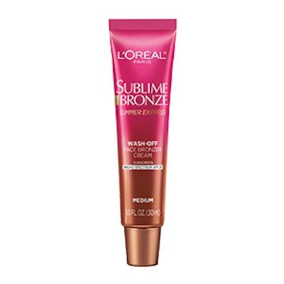 Sublime Bronze Summer Express Wash-Off Face Bronzer Cream SPF 20