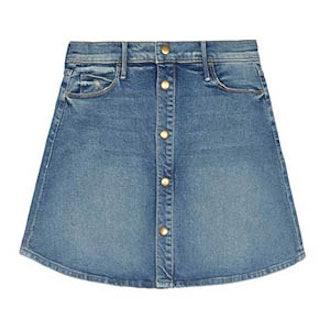 Snap Down Mini Flare Skirt