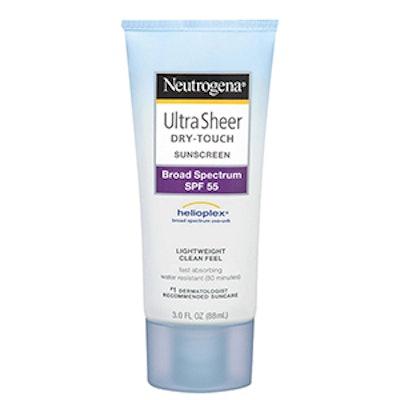 Ultra Sheer® Dry-Touch Sunscreen Broad Spectrum SPF 55 – 3 Fl Oz