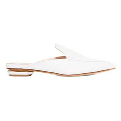 Beya Textured-Leather Slippers