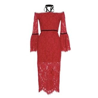 Odette Halter Lace Dress