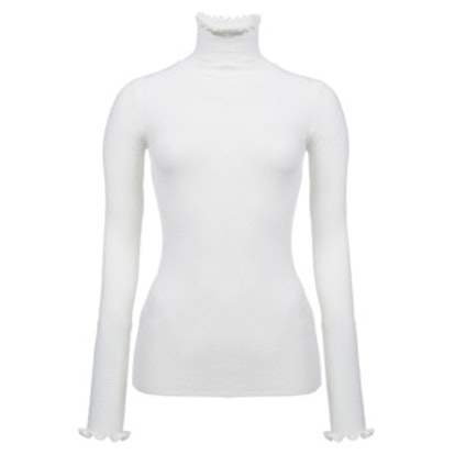 Merino Wook Knit Shirt With A High Neck