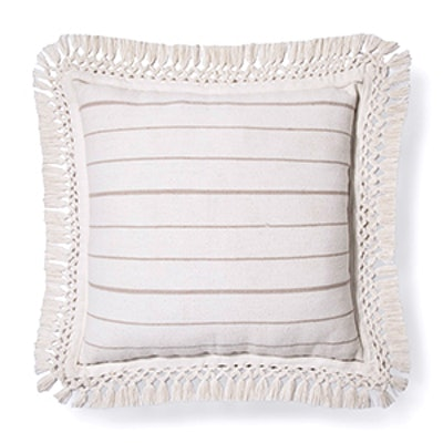 Cream Linen Stripe Oversized Throw Pillow – Threshold™
