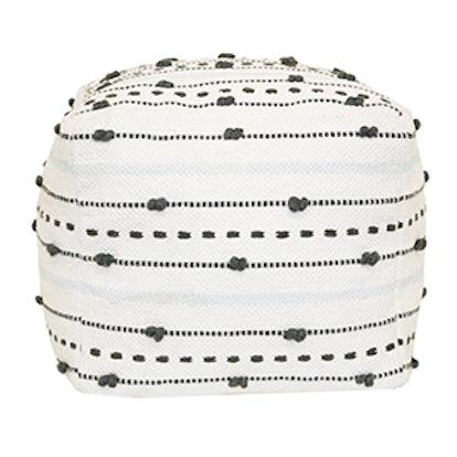 Textured Stripe Pouf