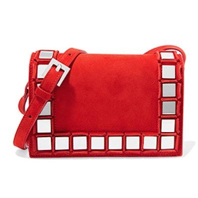 Anja Embellished Suede Shoulder Bag