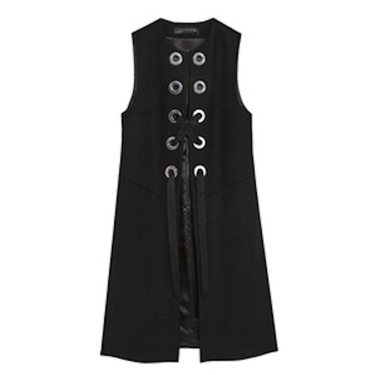 Long Waistcoat With Metallic Details
