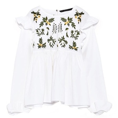 Shirt With Embroidered Flower