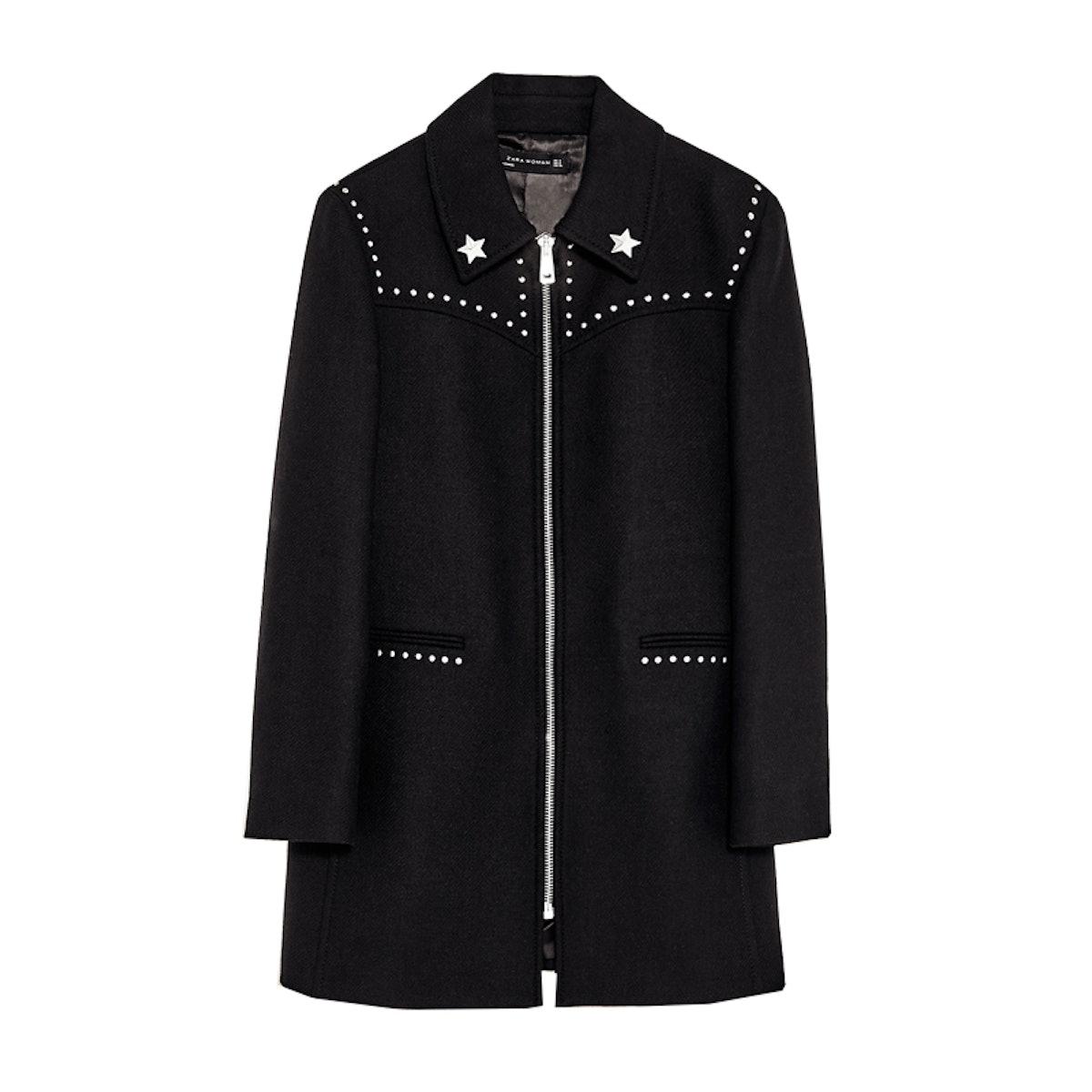 Coat With Metallic Details