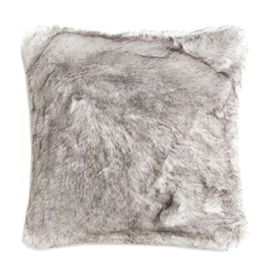 Grey Faux Fur Cushion Cover
