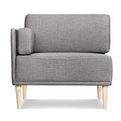 Knook Corner Chair, Gray Tweed