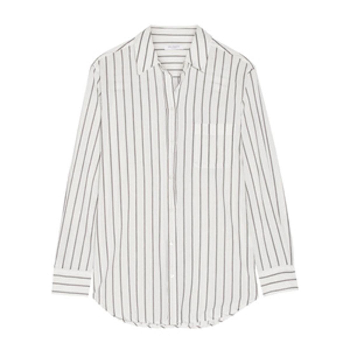 Kenton Striped Cotton-Poplin Shirt