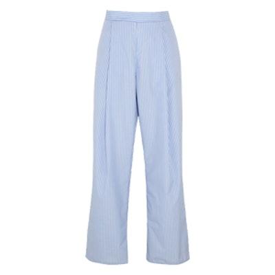 Perret Striped Cotton-Poplin Wide-Leg Pants