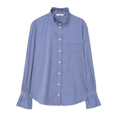 Stripe-Patterned Shirt