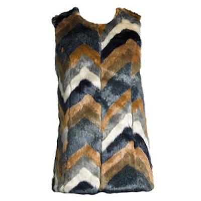 Colorblock Faux-Fur Vest