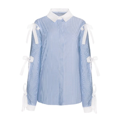Striped Tie Sleeve Shirt
