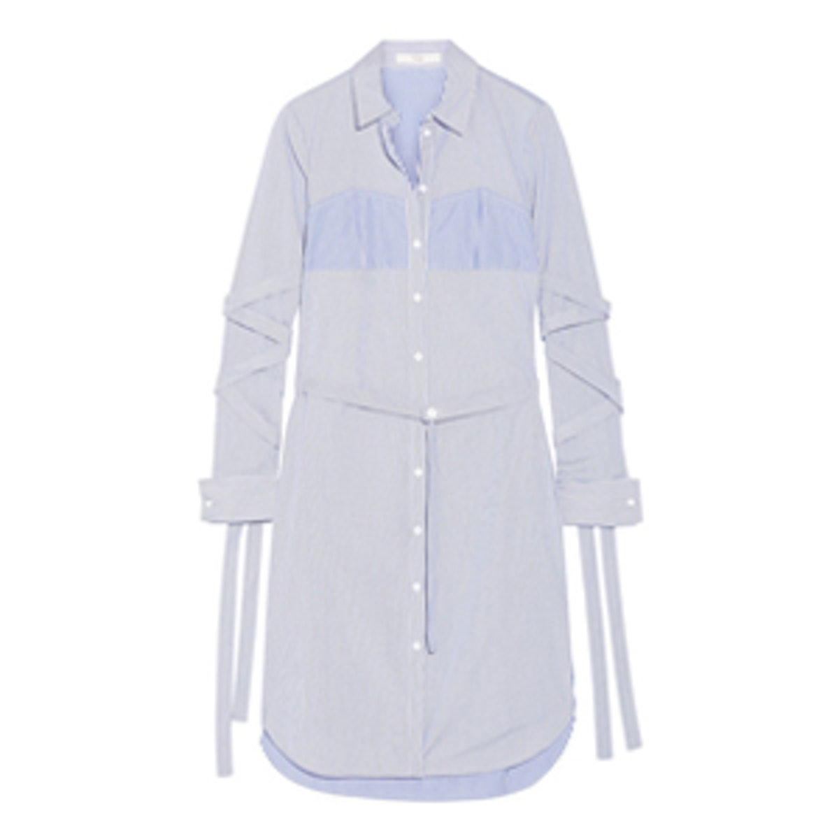 Striped Cotton-Poplin Dress