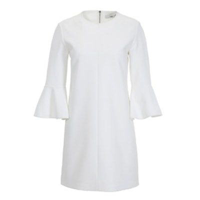Structured Crepe Bell Sleeve Dress