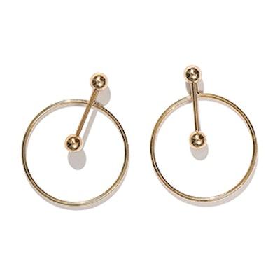 Ivo Gold Open Circle Ear Jackets