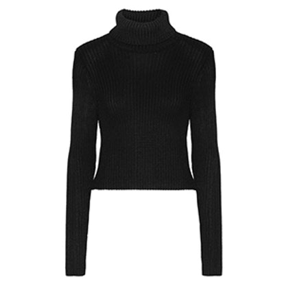 Sierra Ribbed Stretch-Knit Turtleneck Sweater