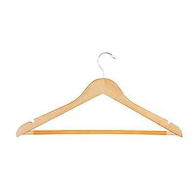 Basic Suit Hanger with Non-Slip Bar Maple