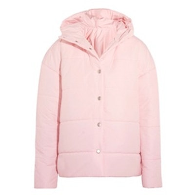 Bubblegum Princess Oversized Quilted Shell Jacket