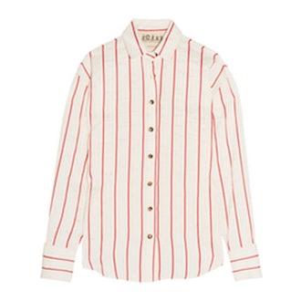 Oversized Striped Jacquard Shirt