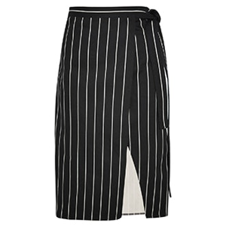 Striped Cotton Wrap Skirt