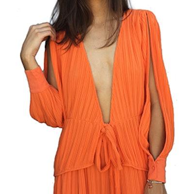 Linear Top in Orange
