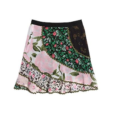 Mixed Print Circle Skirt
