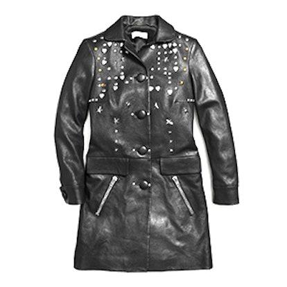 Leather Beatnik Rivet Coat