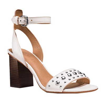 Paige Studded Heel in Chalk