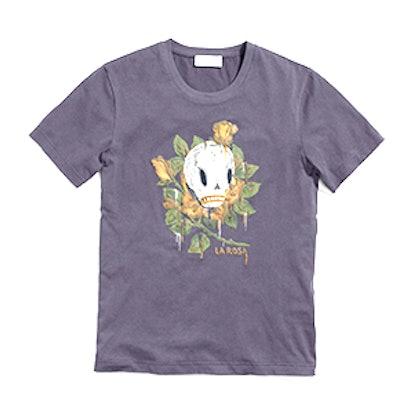 T-Shirt in Black Wild Rose